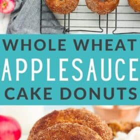 Applesauce donuts on a tray
