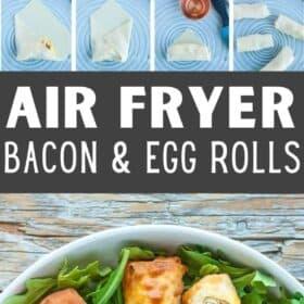 breakfast egg rolls on a plate