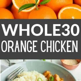 A bowl of instant pot orange chicken