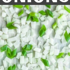 a tray of diced frozen onions