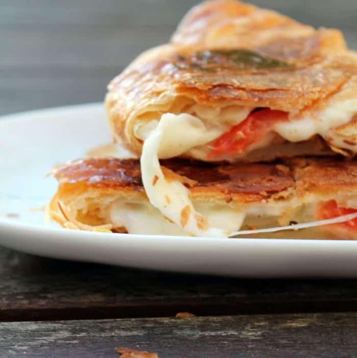 Caprese Croissant Breakfast Sandwich