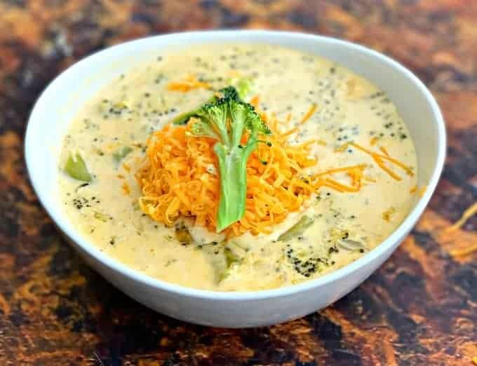 Easy Keto Low-Carb Instant Pot Panera Broccoli Cheddar Cheese Soup + {VIDEO}