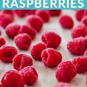 frozen raspberries on a baking sheet