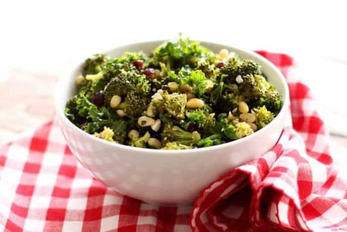 Roasted Broccoli Salad with Feta