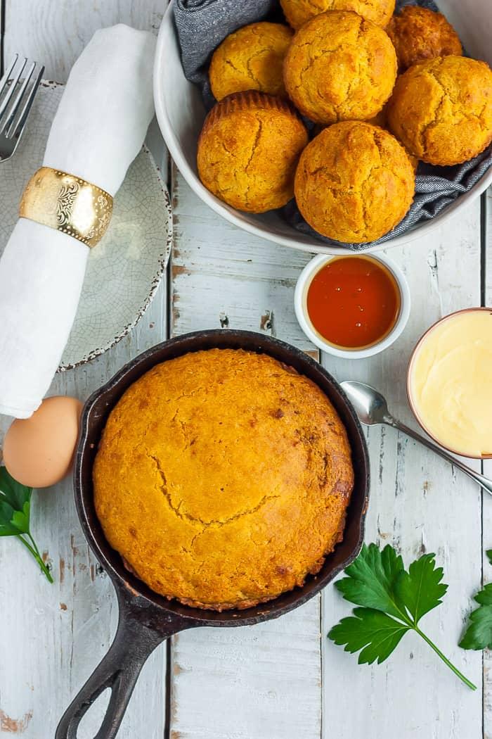 Easy Air Fryer Cornbread Vegetarian Sustainable Cooks