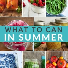 8 photos of summer produce in a grid