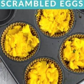 scrambled eggs in a muffin tin