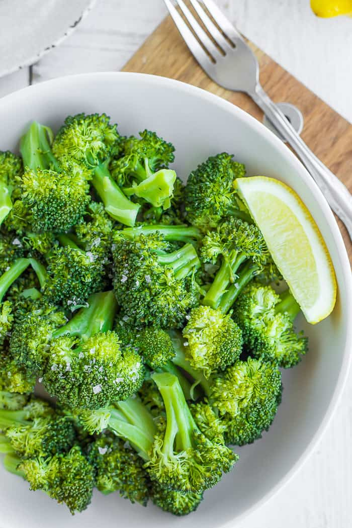 Instant Pot Steamed Broccoli Vegan Whole30 Paleo Sustainable Cooks