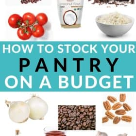 images of pantry items