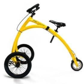 a yellow alinker mobility bike