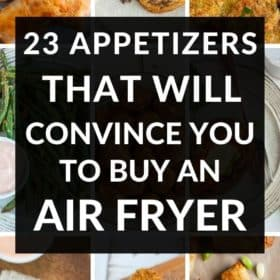 9 photos of different air fryer appetizers