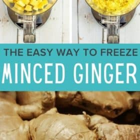process steps showing how to freeze ginger