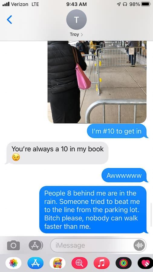 a text conversation
