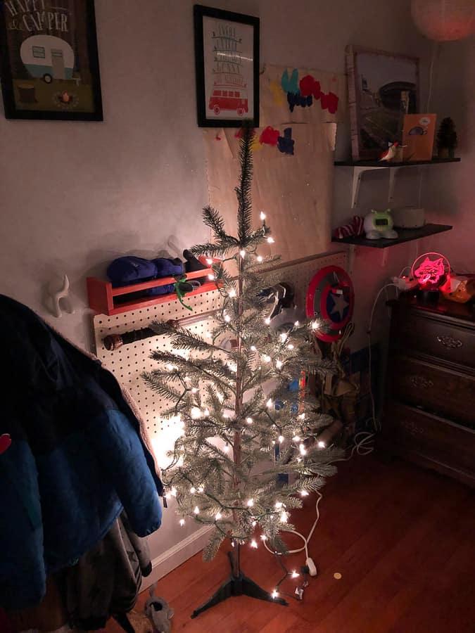 a small christmas tree