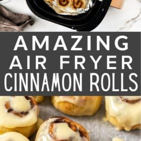 cinnamon rolls in an air fryer