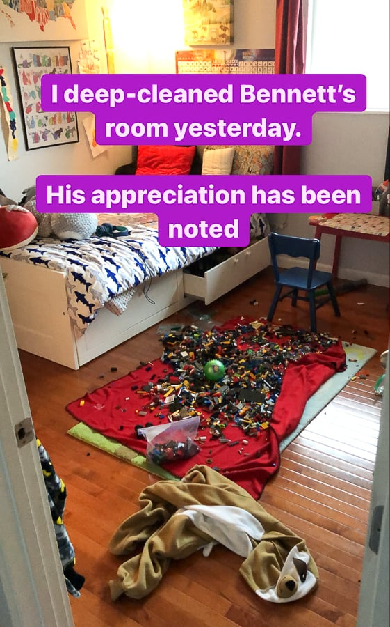 a messy kid's bedroom