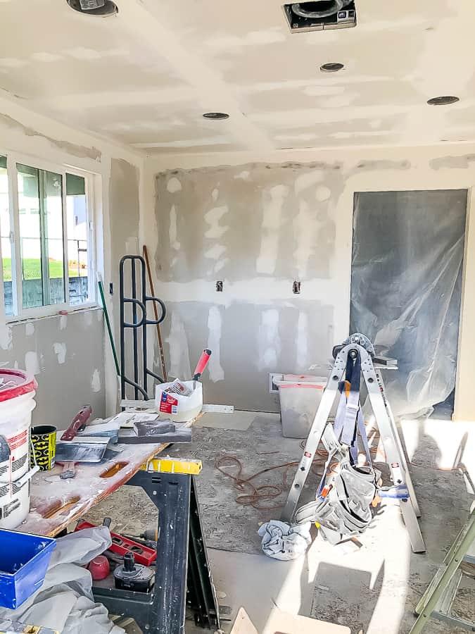 a room under construction