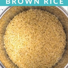 cooked brown rice in an instant pot
