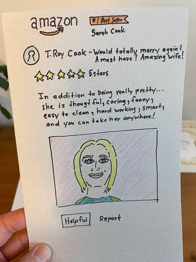 a homemade valentine's day card
