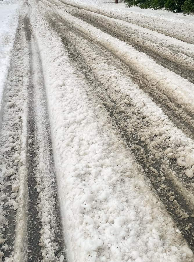 snow on a road