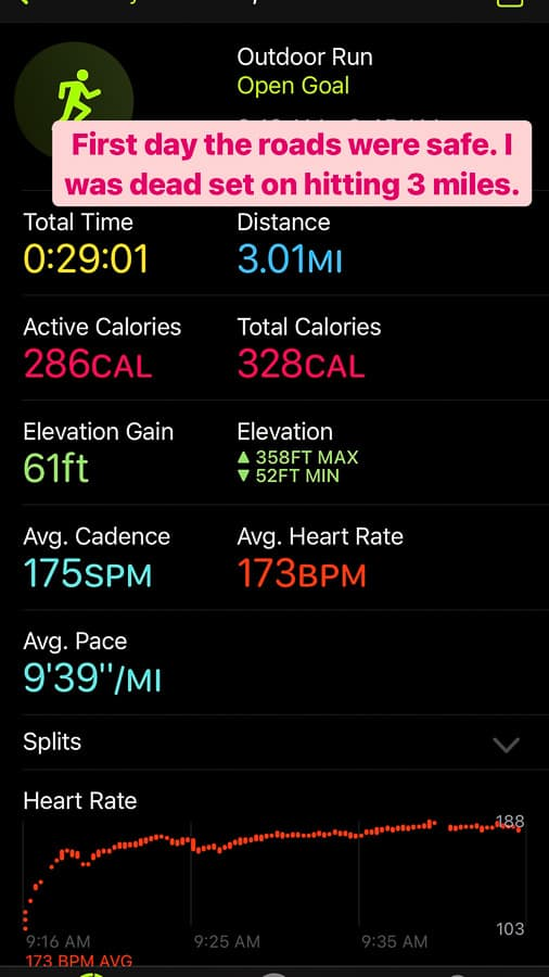 a workout report