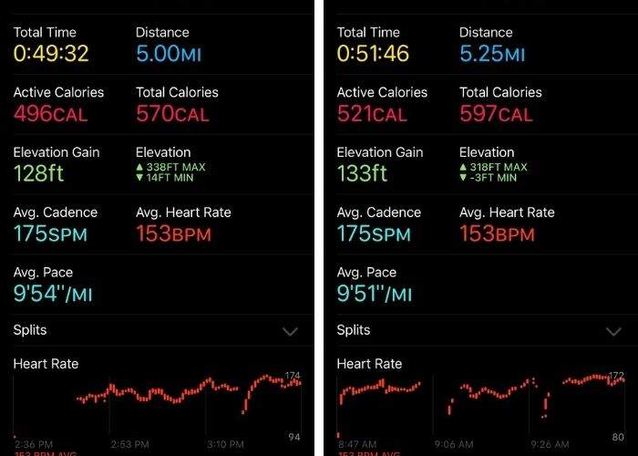 2 workout reports