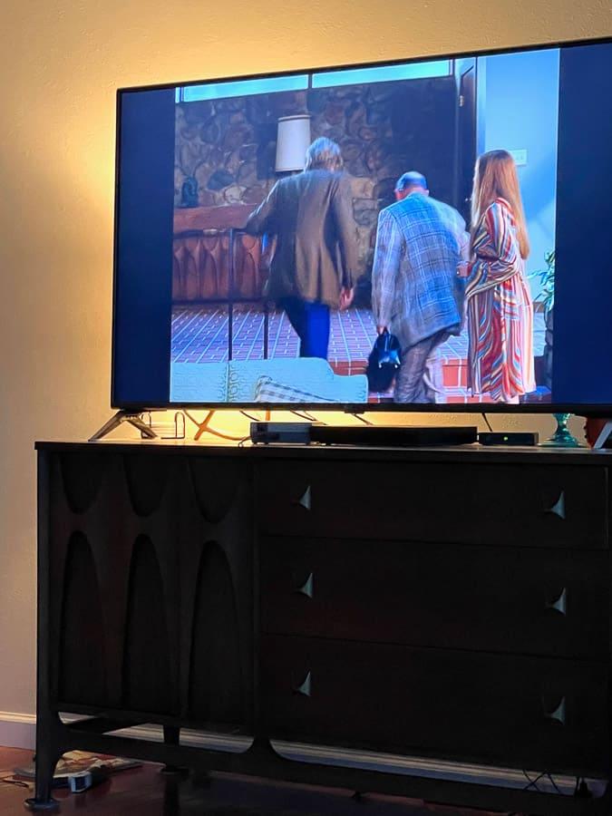 a tv showing Wandavision