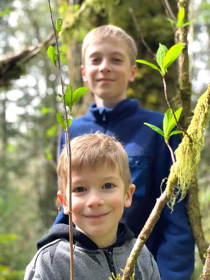 2 brothers in the woods