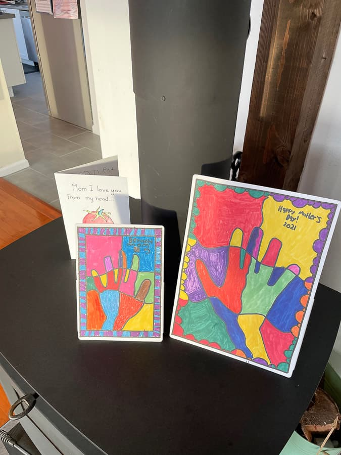 2 handmade mother's day cards