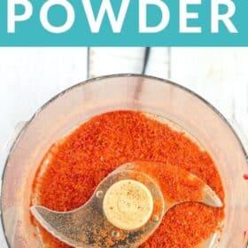 tomato powder in a food processor