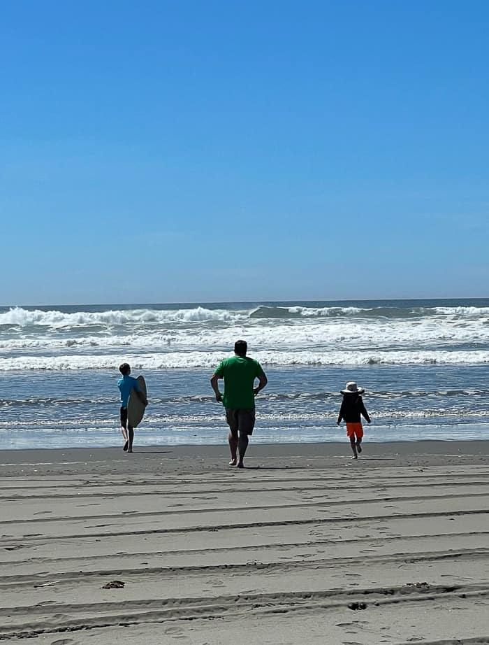 3 kids on the beach