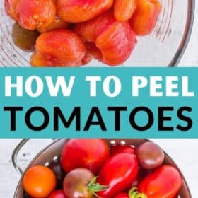 a bowl of peeled tomatoes