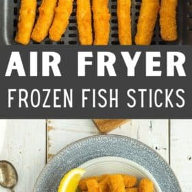 a dish of air fryer fish sticks