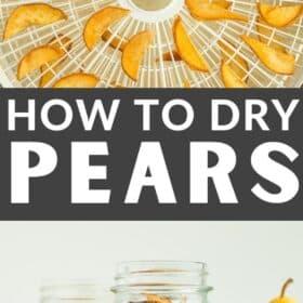 sliced pears on a dehydrator